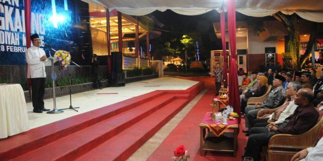 Wagub Sampaikan Sambutan Pada Malam Peresmian Taman Wisata Sengkaling Malang,