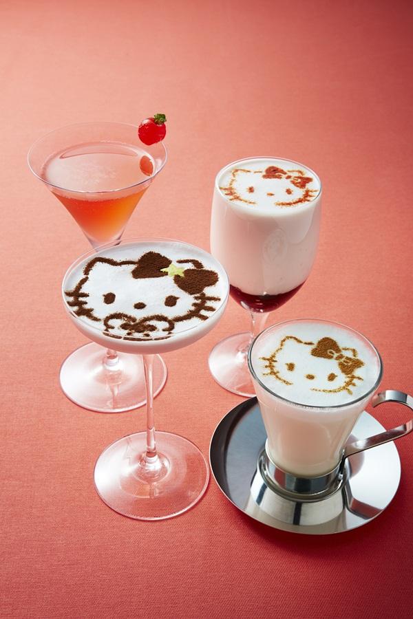 Imutnya Kamar Hello Kitty di Keio Plaza Hotel Tokyo minuman