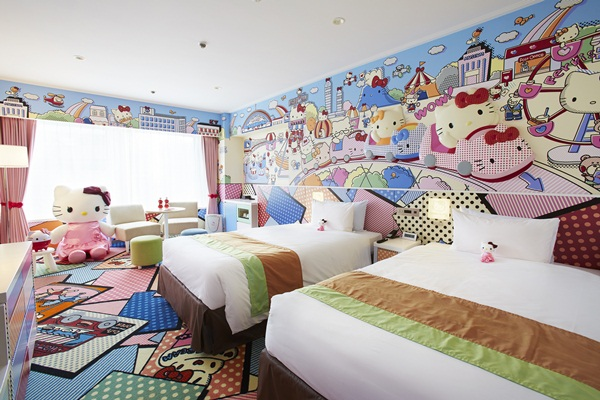 Imutnya Kamar Hello Kitty di Keio Plaza Hotel Tokyo the kitty room
