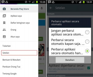 update aplikasi android