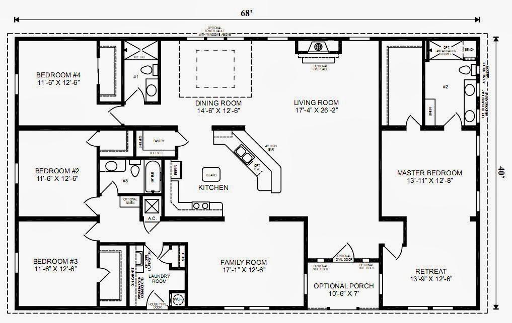 Denah Rumah Sederhana 3 Kamar Tidur Terbaru