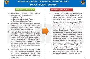 DAU 2017 Terancam di Potong Pemerintah Pusat